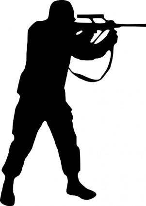 free vector Soldier Silhouette clip art