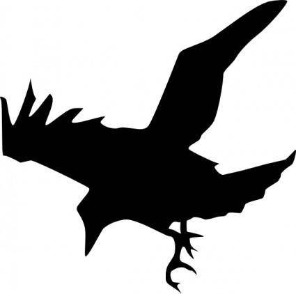 Peileppe Crow Flying Down clip art