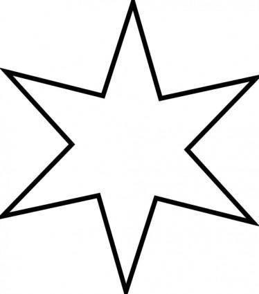 Outline Star clip art