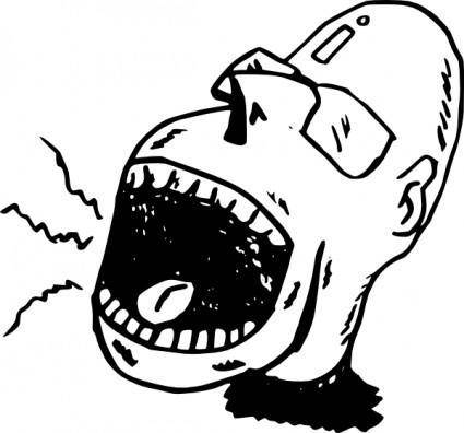 Screaming Person clip art