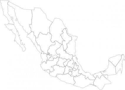Mexican Political Map clip art