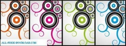 free vector Cool curly vectors