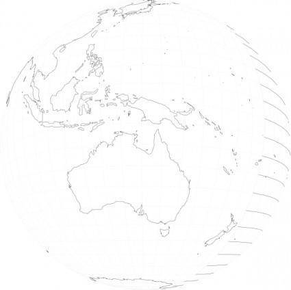 free vector Peterwilson Australia Viewed From Space clip art