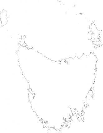 Peterwilson Tasmania Viewed From Space Very High Resolution clip art