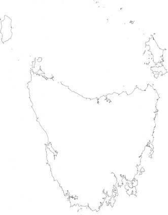 Peterwilson Tasmania Viewed From Space Very High Resolution clip art