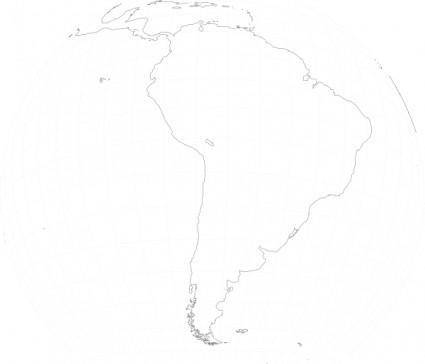 South America Viewed From Space clip art