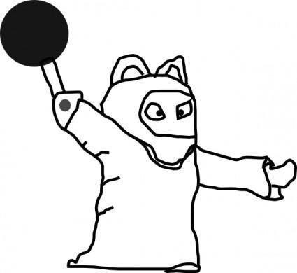 free vector Magician Outline clip art