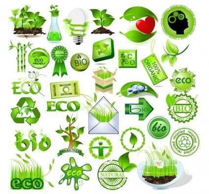 free vector Green element vector