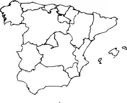 free vector Map Of Spain clip art