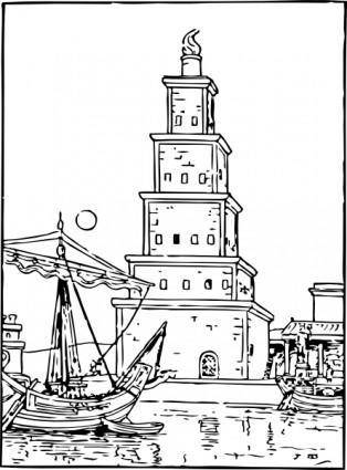 free vector Ancient Lighthouse clip art