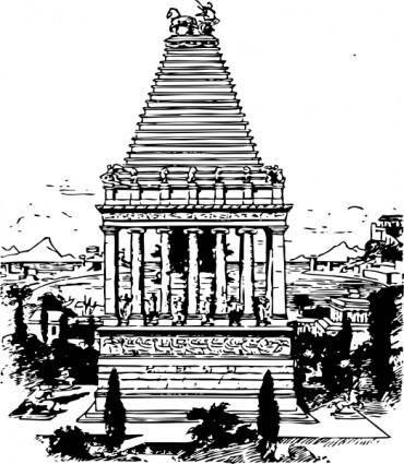 free vector Mausoleum clip art