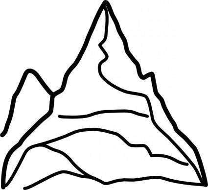 free vector Chain Of Mountains clip art