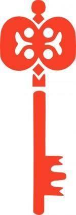 free vector Wrought Key clip art