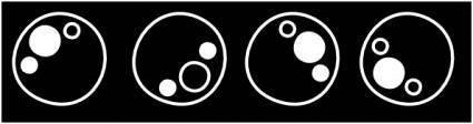 Black Bubbles clip art