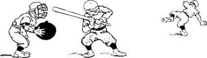 free vector Play Baseball clip art