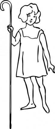 Shepherd Girl clip art