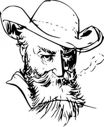 free vector Old Mans Face clip art
