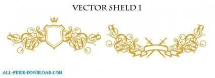 free vector Vector Shields 1