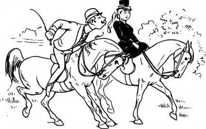 Riding Couple clip art