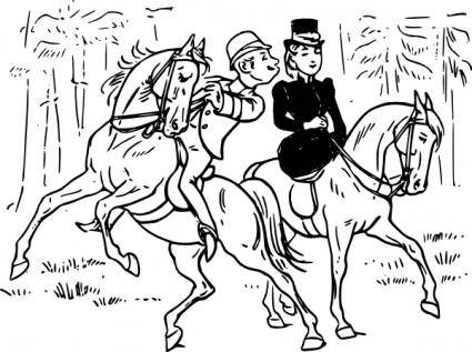 free vector Riding Couple clip art