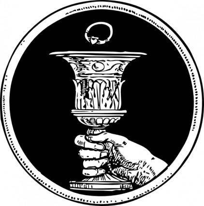 free vector Chalice And Ring clip art