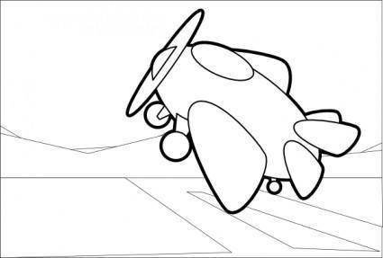 Fat Plane clip art