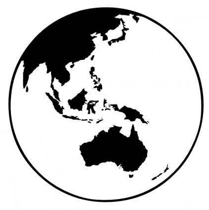 Earth Globe Oceania clip art