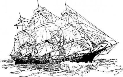 Sailing Ship clip art