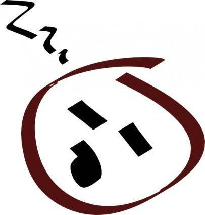 free vector Sleeping clip art