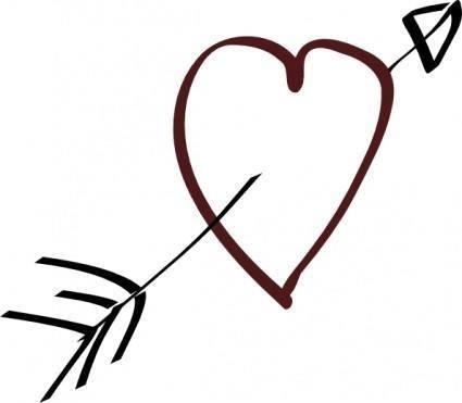 Decorative Arrow Clip Art Valentine Heart Arrow Clip Art