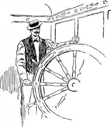 Sailing Captain clip art