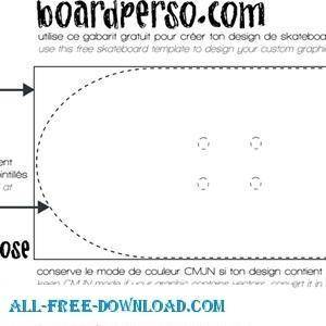 free vector Skateboard Template