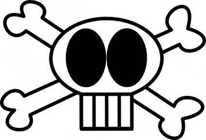 Goofy Skull clip art