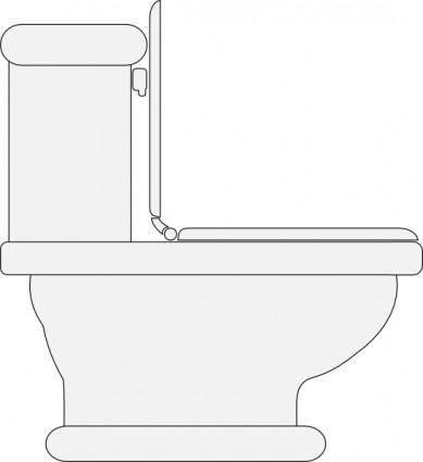 Toilet Seat Open clip art