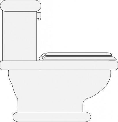 Toilet Seat Closed clip art