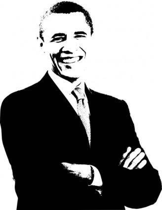 free vector Barack Obama clip art