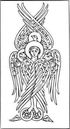 free vector Angel On Two Wheels Tetramorph clip art
