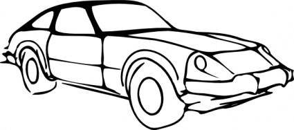 Car Outline Modified clip art