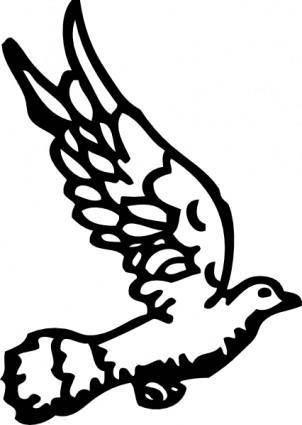 free vector Dove clip art