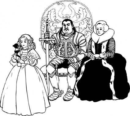 free vector The Knight Family clip art
