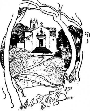 free vector Roadside Chapel St Pierre clip art