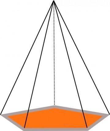 free vector 3d Pyramid Outline clip art