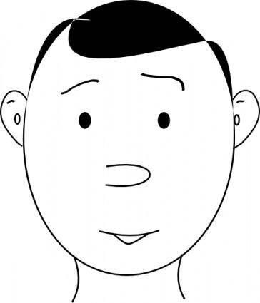 Human Face Outline clip art