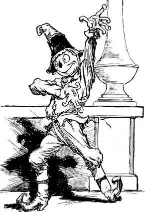 Dramatic Scarecrow clip art