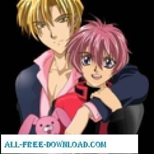 free vector Yuki And Shuichi