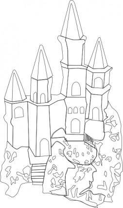 Castle Outline clip art