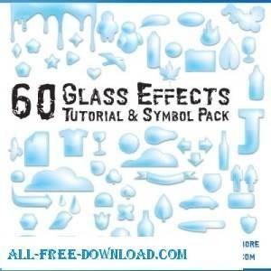 free vector 60 Glass Effects