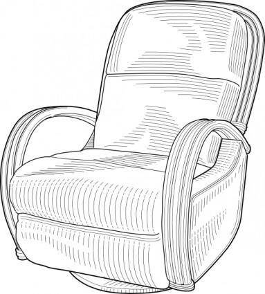 Recliner Chair clip art
