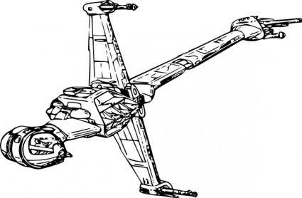 free vector Starfighter Starwars clip art