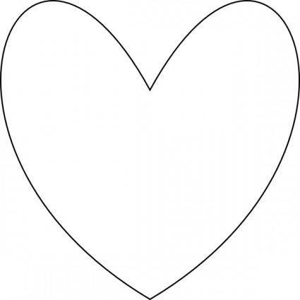 free vector Heart Outline clip art